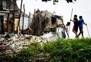 Plastic pollution in the San Blas islands
