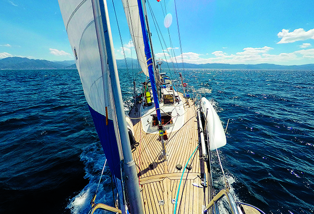 The Tayana Vancouver 42, Agape sailing in Banderas Bay while her owners were sailing Mexico