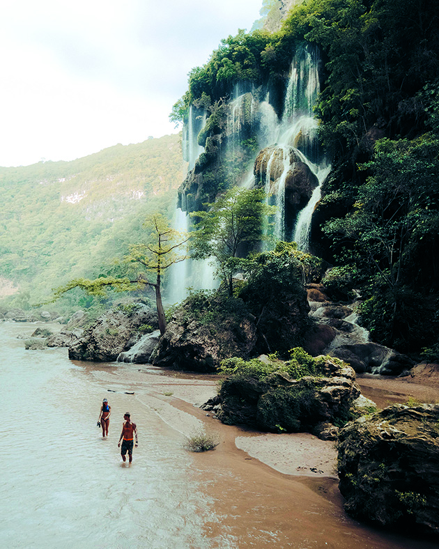 The southern region of Chiapas boasts many waterfalls including Aguacero, which tends to be less visited
