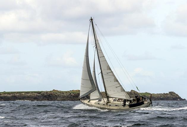 Saltram Saga 36 sailing off the coast of Ireland