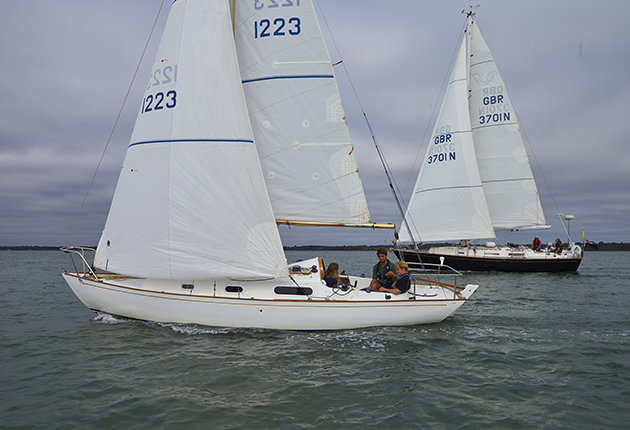 Upwind, experiment with how close to the wind, or how free your boat most likes to be sailed. Credit: Graham Snook