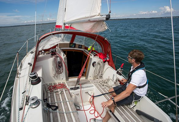 Make sure you understanding the skills and kit necessary to successfully and safely sail solo or shorthanded. Credit: Richard Langdon/Ocean Images