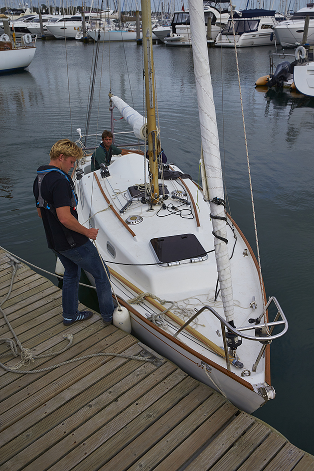 The angle of the bow had a big influence on springing the stern out. Credit: Graham Snook