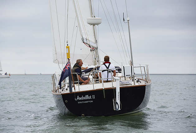 The Rustler 37 made good progress upwind when sailed slightly free. Credit: Graham Snook