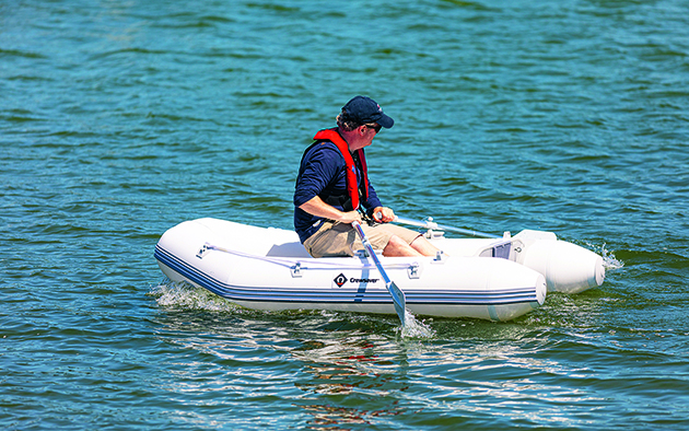 The Crewsaver Air Deck 230 is part of Crewsaver's new inflatable boat range. Credit: David Harding