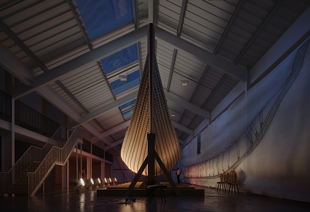 The original archaeologists who uncovered the Sutton Hoo Ship in 1939 took detailed measurements, allowing the replica to be built. Credit: Daniel Fisher/Sutton Hoo Ship's Company