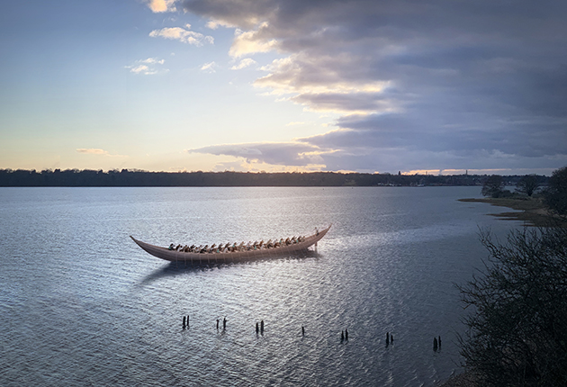 It is still not clear if the Sutton Hoo Ship was used for transporting goods or was a royal barge. Credit: Daniel Fisher/Sutton Hoo Ship's Company