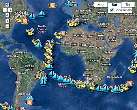 Volvo Ocean Race Map