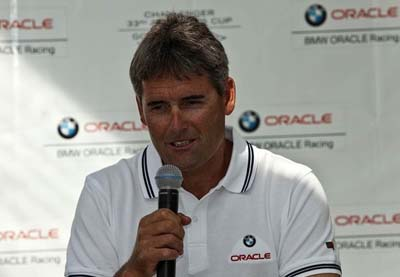 Russell Coutts at Press Conference