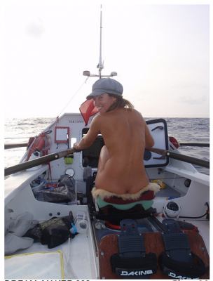 Woman spends 31 days rowing across Atlantic NAKED with 5