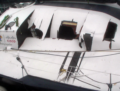 BT coachroof damage