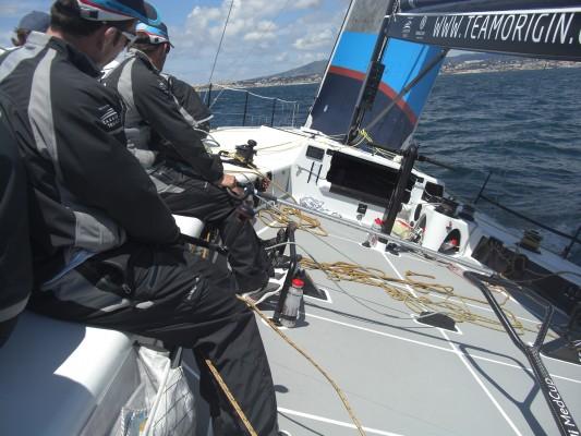 Team Origin on board