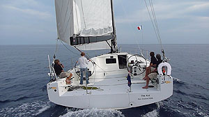 Sailing the JP54 - stern shot