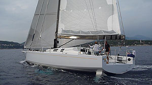 Sailing JP54 beam shot