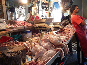 Chicken stall Port Louis