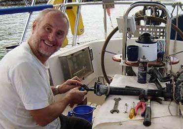 Paul Chandler onboard Lynn Rival