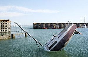 Sinking boat art 3