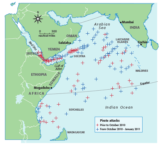 Piracy risk areas