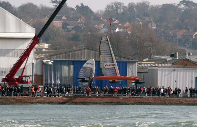 Vestas Sailrocket launch, March 2011