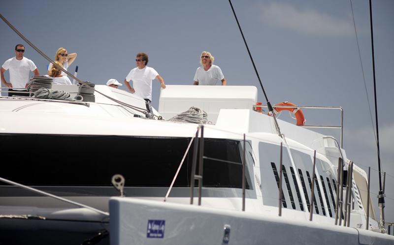 Sir Richard Branson At The Helm Yachting World