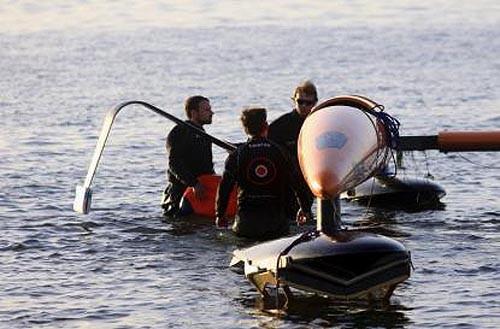 Vestas Sailrocket II in Namibia