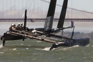 Oracle Racing AC45, test sailing in San Francisco