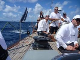 Jan Rupert steers Blackbird at the start