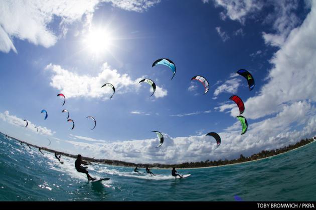 Kiteboard racing