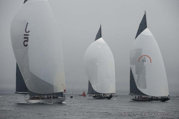 Velsheda wins second J-Class race in Falmouth fog