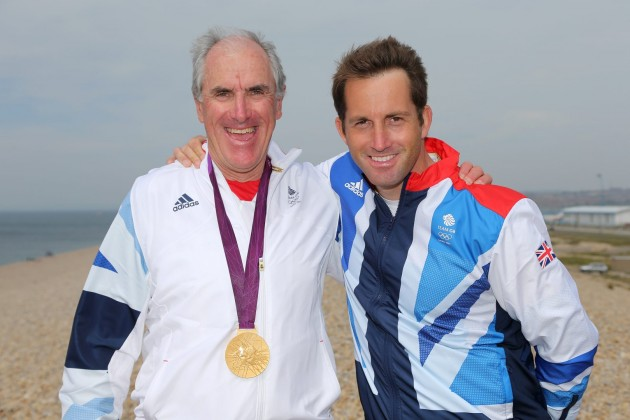 Ben Ainslie and coach David Howlett