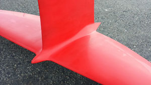 Oracle-T-foil-looking-aft - America's Cup