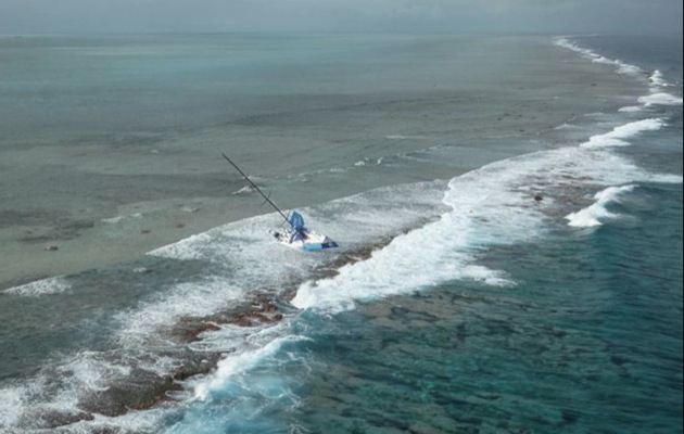 team vestas wind crash