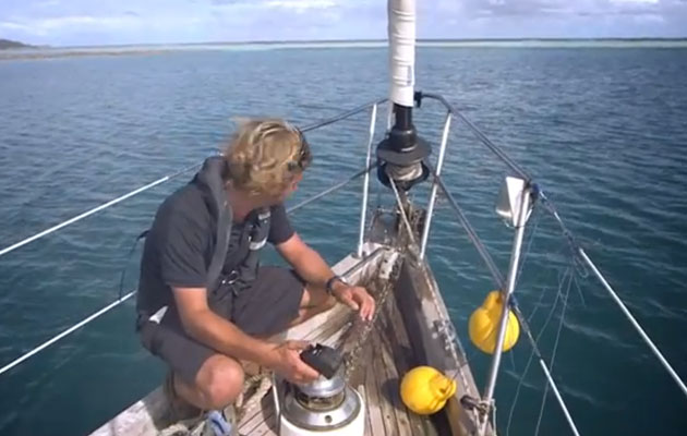 Anchoring in coral