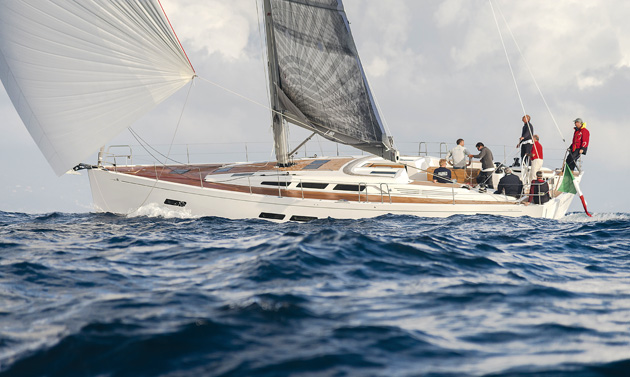 The 15.98 has a generous rig, and sails quickly and easily