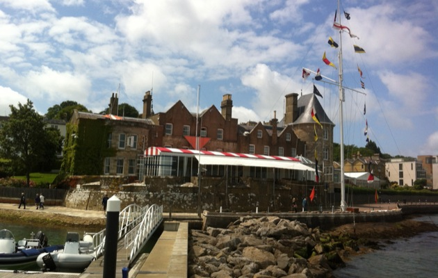 The Royal Yacht Squadron in Cowes