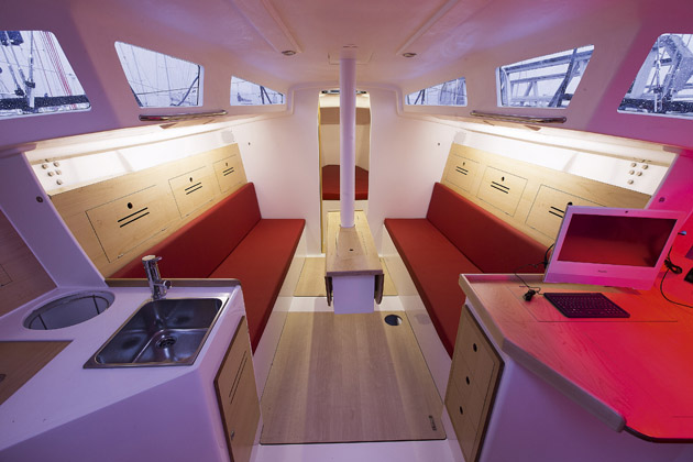 The interior is simple, but attractive and effective