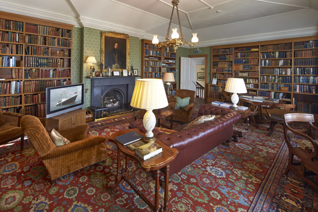 The Library, a peaceful sanctuary as well as an important archive. Photo: YPS/Boat Exclusive
