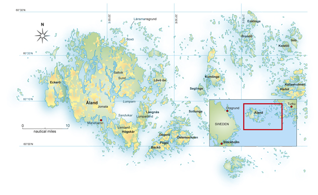 Cruising The Aland Islands Yachting World - Aland islands political map