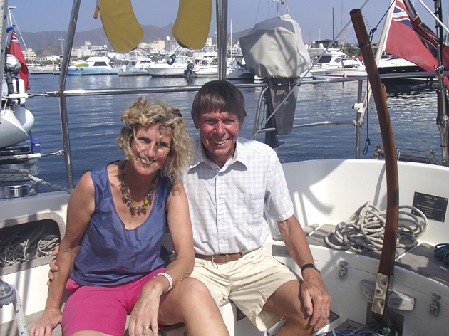 Julia Horner and Eric Faber aboard Luna Quest