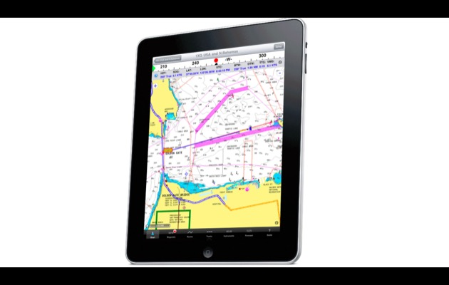 Navigating using iPad electronic charts