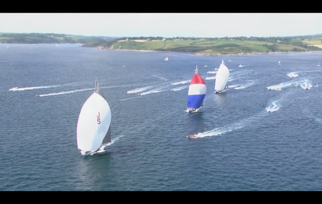 Video of J Class racing Falmouth 2015