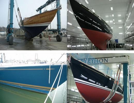Yacht repainting