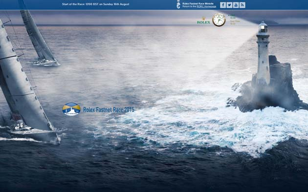 Track the fleet on the RORC website