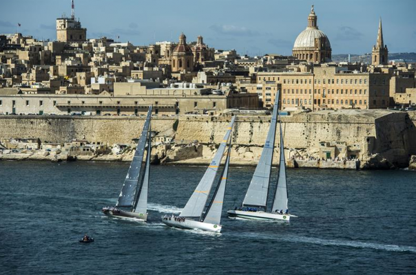 Start of the Rolex Middle Sea Race 2014 off Valletta, Malta. Image courtesy Kurt Arrigo/ Rolex