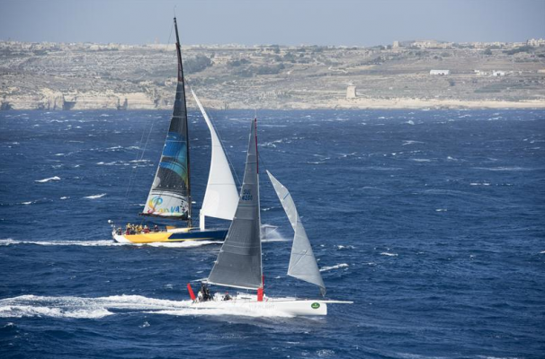 KUKA-LIGHT (SUI) AND MONSTER PROJECT (RUS) ENTERING THE COMINO STRAIT