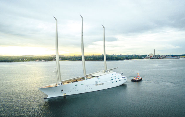 Sailing Yacht A >> Video Of Sailing Yacht A The World S Largest Sail Assisted