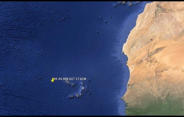 The ARC crew were rescued around 130 miles west of the Cape Verde islands