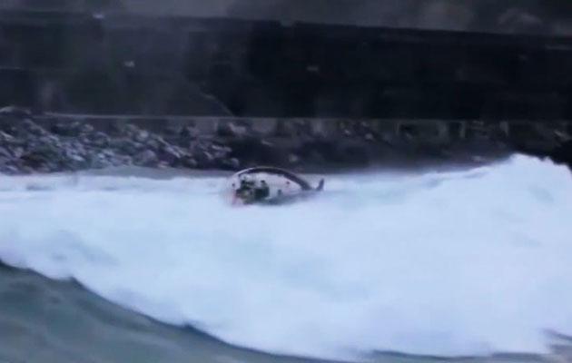 Yacht capsize