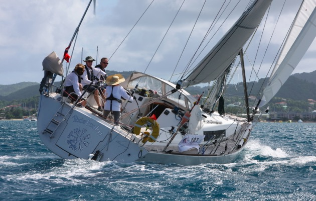 Chris and Helen Tibbs and crew of Taisteali finish the ARC