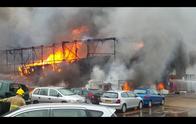 Cowes fire